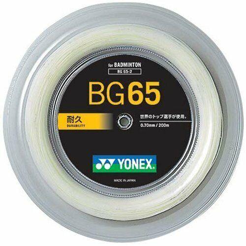 YONEX Badminton Saite BG 65 / BG65 200m Rolle Neu & Portofrei