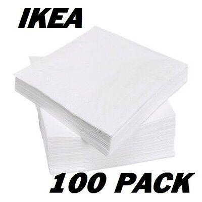 IKEA FANTASTISK 3 Ply Paper 100 Pack Birthday Party Napkins Serviettes 40 X 40cm