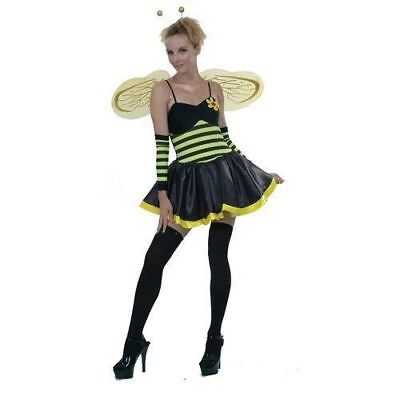 ADULT DARLING BUMBLE BEE WINGS COSTUME SEXY LADIES INSECT FANCY DRESS OUTFIT NEW
