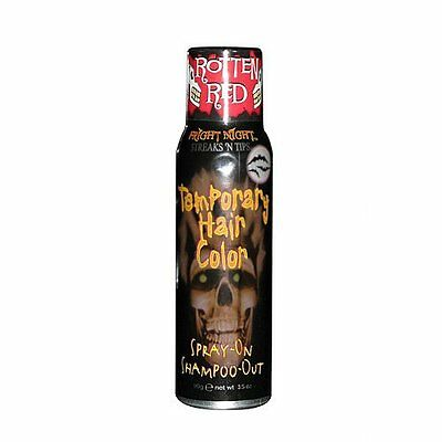 Temporary Red Hair Color Halloween (Rotten Red Temporary Hair Color Spray-on Fright Night Blood Red Halloween 3)