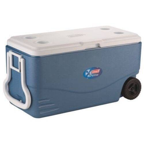 Wheeled Rolling Cooler Big Portable Ice Chest Durable 100 Qu