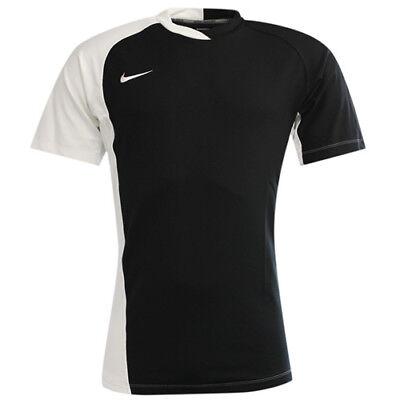 Nike Performance Short Sleeve Dri Fit Black Mens Rugby T-Shirt 329301 010 P2E