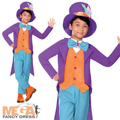 Tea Party Mad Hatter Boys Fancy Dress Fairytale Kids World Book Day - Mad Hatter Kostüm Boy