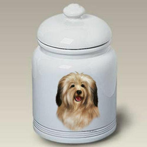 Cream Havanese Ceramic Treat Jar TB 34097