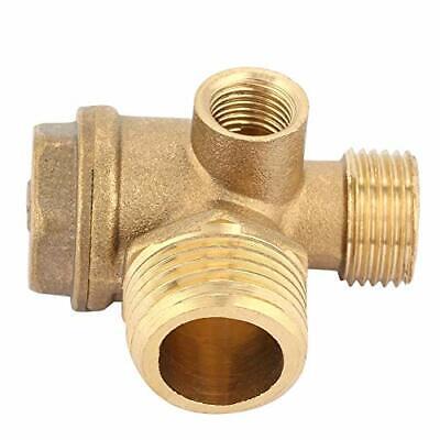 3 Port Brass Air Compressor Check Valve Male Threaded Tube Connector Tool Com...