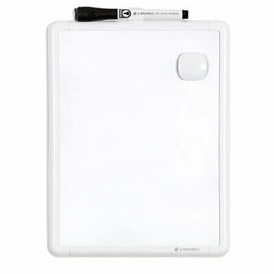 Contempo Magnetic 8.5 X 11 Dry Erase Board White Frame Magnet And 8.5 X 11