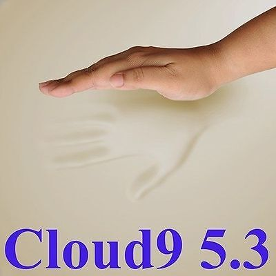 "CLOUD9 5.3 KING 3"" MEMORY FOAM MATTRESS PAD, BED TOPPER"