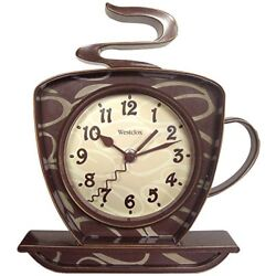 Coffee Shop Time 3-D Wall Clock Mount Decor Design Art Watch Bakery Home Kitchen