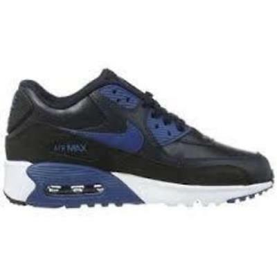 check out cc422 6d618 Nike Kid s Air Max 90 Leather Race Shoes, Black, 6.5 M US Big Kid