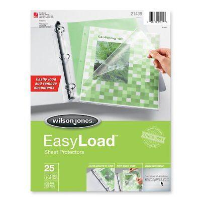 Wilson Jones Easyload Sheet Protector - 9 X 11 - Rectangular - Wlj21439