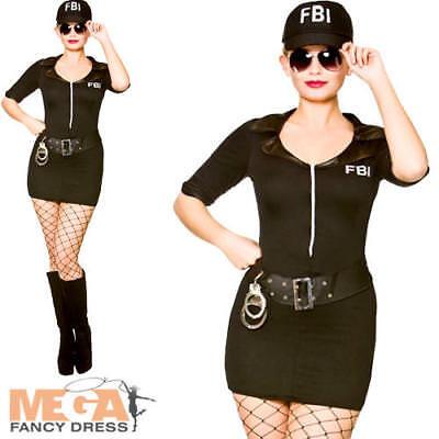 Sexy FBI Police Cop Ladies Fancy Dress Occupation Uniform Adults Womens Costume](Occupation Fancy Dress)