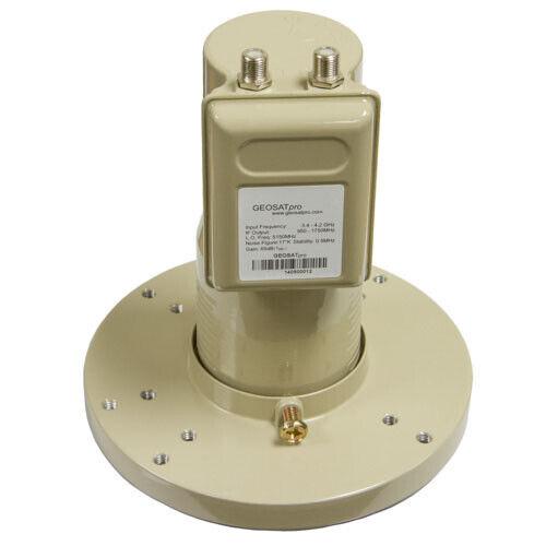 GEOSATpro C2 C-band Phase-Locked Loop LNBF FTA PLL DUAL LNB