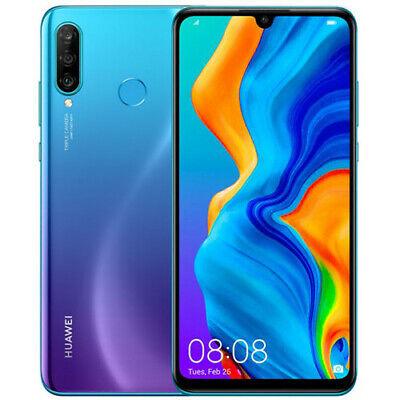"Huawei P30 lite MAR-LX3A 128GB 4GB RAM GSM Unlocked 6.15"" Smartphone Blue New"