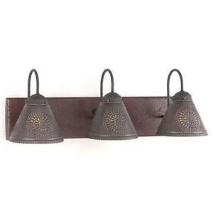 Primitive lighting ebay - Primitive bathroom vanity lights ...
