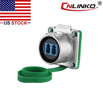 Cnlinko Fiber Optic Industrial Connector Panel Socket Waterproof Single Mode Lc