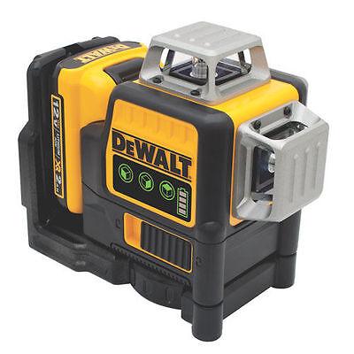 Dewalt Dw089lg 12 Volt 3 X 360 Degree Lithium Ion Green Beam Line Laser New