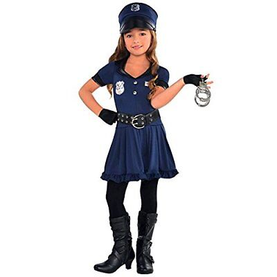 Kids Robber Costume (Girls Cutie Cops and Robbers Party Police Woman Costume | Child / Teen)
