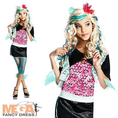 Girl's Lagoona Blue Monster High Fancy Dress Childrens Halloween Kids Costume
