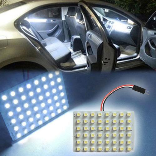 new white 48 smd cob led t10 4w 12v car interior panel light dome lamp bulb cad. Black Bedroom Furniture Sets. Home Design Ideas