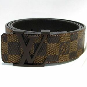 Brand New Louis Vuitton Belt Damier Brown Real Leather