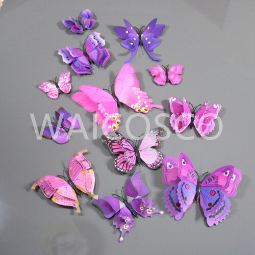 Home Decoration - 3D Twin Wings Home Butterfly Wall Stickers Decorations Butterflies