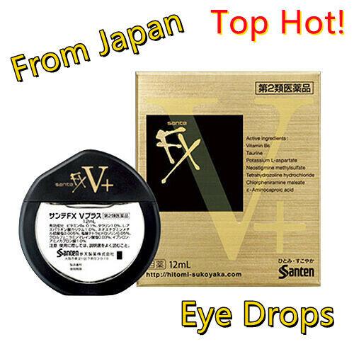 SANTEN  FX V-plus Eyedrops 12ml From Japan