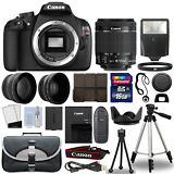 Canon T5 Digital SLR Camera + 18-55mm IS II 3 Lens Kit + 16GB Top Value Bundle