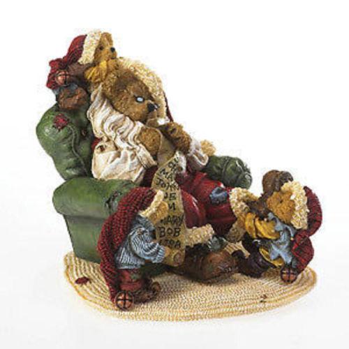 "Boyds Bears ""Sleepynick with Pip, Pop & Pep"" Wake Up Santa! NIB #4022277"