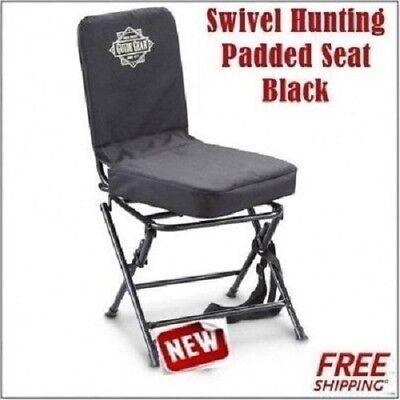 Swivel Hunting Seat Black Blind Chair Big Boy Padded Seat - Black Fishing seat