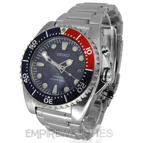 Mens Seiko Kinetic Divers Watch