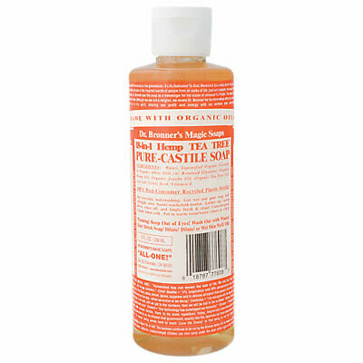 Organic Oils Castile Soap - Dr. Bronners Castile Soap - Made with Organic Oils - Tea Tree (8 Fluid oz)