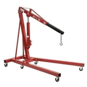 Global Industrial Folding Floor Crane with Telescopic Boom 4000 Lb. Capacity - BRAND NEW - FREE SHIPPING