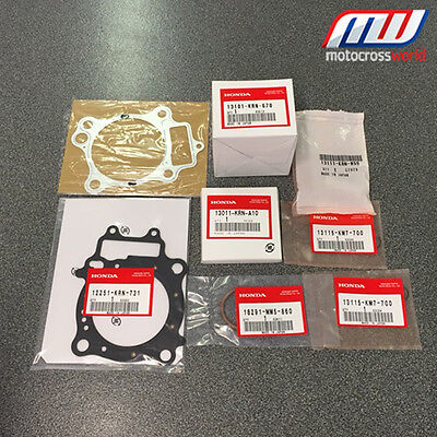 BRAND NEW in the box complete Genuine OEM Honda Piston Kit for CRF250R 2005