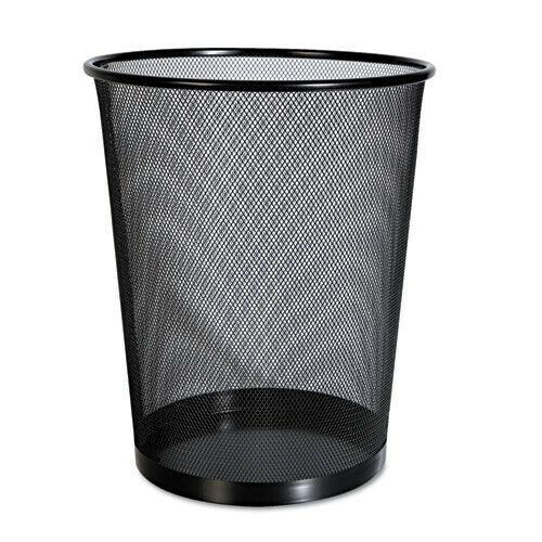 Universal 20008 Mesh 18 qt. Wastebasket - Black New
