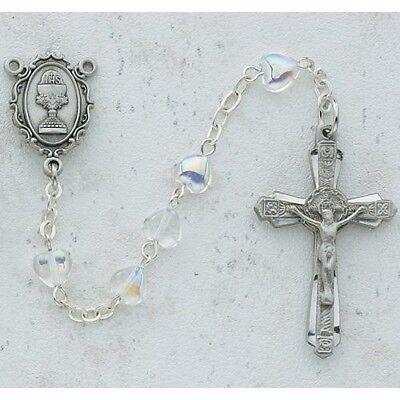 Mädchen Erste Kommunion Geschenk Herzförmig Kristall Perle Zinn Chalice Mitte ()