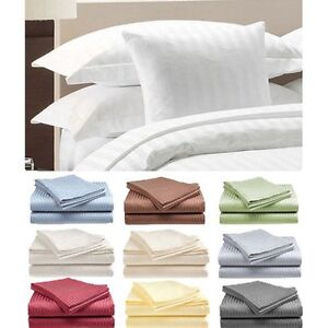 2-PACK-4-Piece-Set-Hotel-Life-Deluxe-100-Cotton-Sateen-Sheet-Set