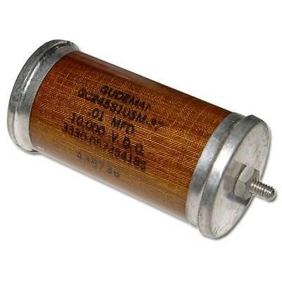 New Gudeman .01uf 10000v High Voltage Oil Capacitor 0.01mfd 10000v .01mfd 10kv
