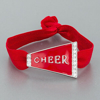 Red Clear Stones Cheer Megaphone Design College Team Colors