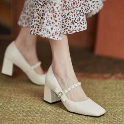как выглядит Womens Trendy Pointy Toe Pearls Bowknot Dress Shoes Pumps High Heels Plus Size фото