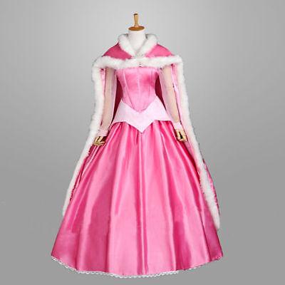 Sleeping Beauty Halloween (US stock Pink Sleeping Beauty Princess Fancy Dress Cloak Halloween Cosplay)