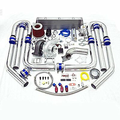 Universal High Performance Upgrade T70 15pc Turbo Kit V-band Downpipe FMIC KIT