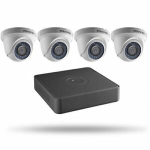 HIKVISION SECURITY CAMERA KIT, 4 CHANNEL, 8 CHANNEL DVR