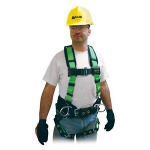 Miller Contractor Non-Stretch Full Body Safety Harness New