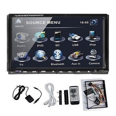 "2 DIN 7"" Touch Car DVD CD Player In-Dash Stereo Radio iPod-AUX TV Bluetooth USB on Rummage"