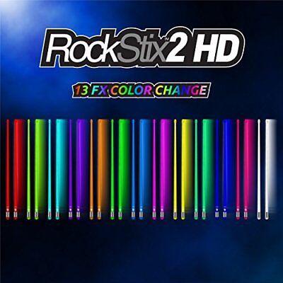 ROCKSTIX 2 HD COLOR CHANGE, BRIGHT LED LIGHT UP DRUMSTICKS, 13, ROCKSTIX