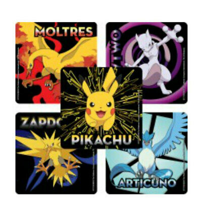 20 Pokemon Legendary STICKERS Party Favors Supplies for Birthday Treat Bags - Pokemon Birthday Favors