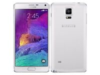 SAMSUNG GALAXY NOTE 4 SM-N910F 32GB (FROST WHITE) with Box and Charger Mint Condition