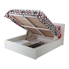 """Kind Size Ikea """"Malm"""" Ottoman bed- Super King with under storage"""