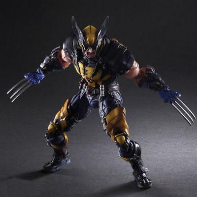 HOT Play Arts Kai 28cm Wolverine X-MEN Action Figure Toy Model Statue PVC Neu gebraucht kaufen  Versand nach Germany