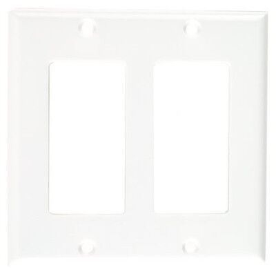 New Cooper 2152W  Standard Size Thermoset Gfci Wall Plate  2Gang White